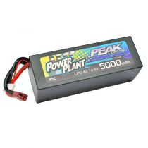 Lipo 14.8v 4S POWER PLANT PEAK 5000 Mha - 45C