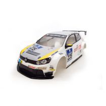 M40S VOLKS GOLF 24 PAINTED DECORATED BODY (YELLOW)