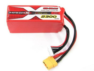 ManiaX 22.2V 2300mAh 70C Lipo Battery Pack - 6S2300