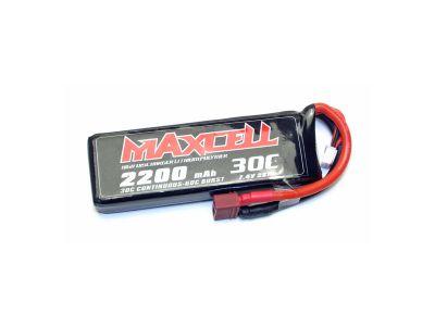 MAXCELL Accu Lipo 2S 7,4V 2200mah 30C prise dean