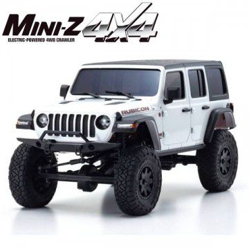 MINI-Z 4X4 MX-01 | JEEP WRANGLER RUBICON | BLANC & NOIR | K.32521