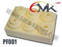 Mousses de Filtre à air 6MIK Standard Blanche Haute Qualité (6 pcs)