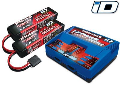 PACK CHARGEUR-LIPO COMPRENANT 1 x CHARGEUR 2972G + 2 x LIPO 3S 5000MAH 2872X PRISE TRAXXAS - TRX2990G - 2990