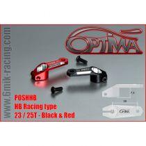 Palonnier de servo OPTIMA verouillable type HB - 25T Rouge