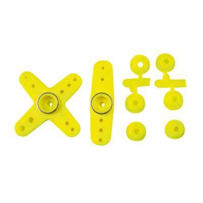 Palonniers de servo jaune fluo avec adaptateur universel