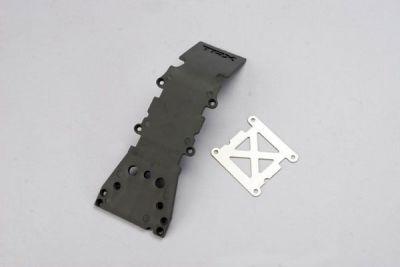PLAQUE DE PROTECTION PLASTIQUE GRISE + PLAQUE ACIER - TRX4937A - TRAXXAS
