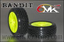 Pneu 6Mik BANDIT 21/40° ULTRA Montés-Collés sur jantes jaunes (la paire) - TUY82140 - Pièces et Options 6Mik