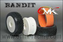 Pneu BANDIT 0/18° + Jante Blanche + Insert non collé (la paire) - TK80018 - Pièces et Options 6Mik