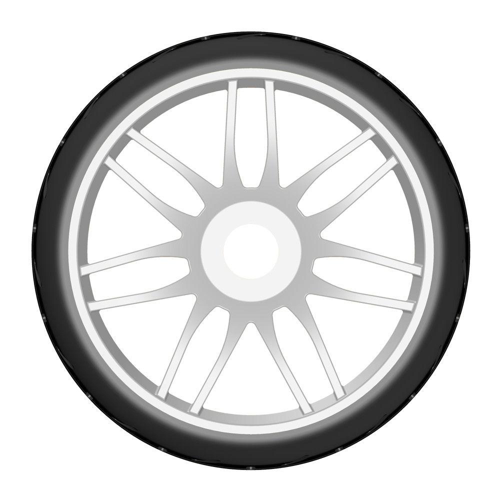 Pneu Rally game GRP 1/8 - S2 XSoft - Hard Blanche (2) - GTJ01-S2