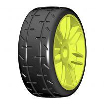 Pneu Rally game GRP 1/8 - S2 XSoft - Nouvelle jante jaune (2) - GTY01-S2