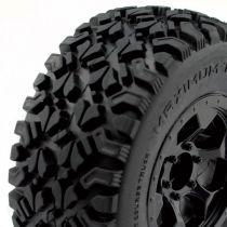 pneus 1 / 10 OPTIMO Short Course montes colles sur jantes noires