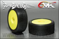 Pneus BARRACUDA CS  Montés-Collés sur jantes jaune (la paire)