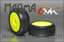 Pneus MAGMA 0/18° Montés-Collés sur jantes 2015 jaune (la paire)