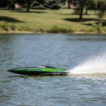 """PRB08032T2 - Sonicwake 36\"""" bateau moteur Deep-V RTR, noir et vert"""