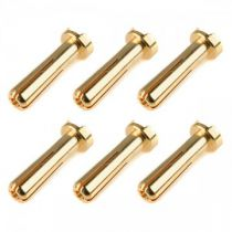 Prise male 4.0mm 90° Solid Type - 6 pcs - C-50151