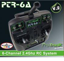 Radio FHSS 2.4GHz 6 voies PTR6A V2 + accu Li-Po 1000mA - S03770100V