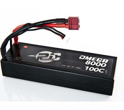 Rc Concept Batterie Lipo 2S Accu 8000 100C 7.4V 2S1P Stick (PK 4mm)  - 50C5180100T