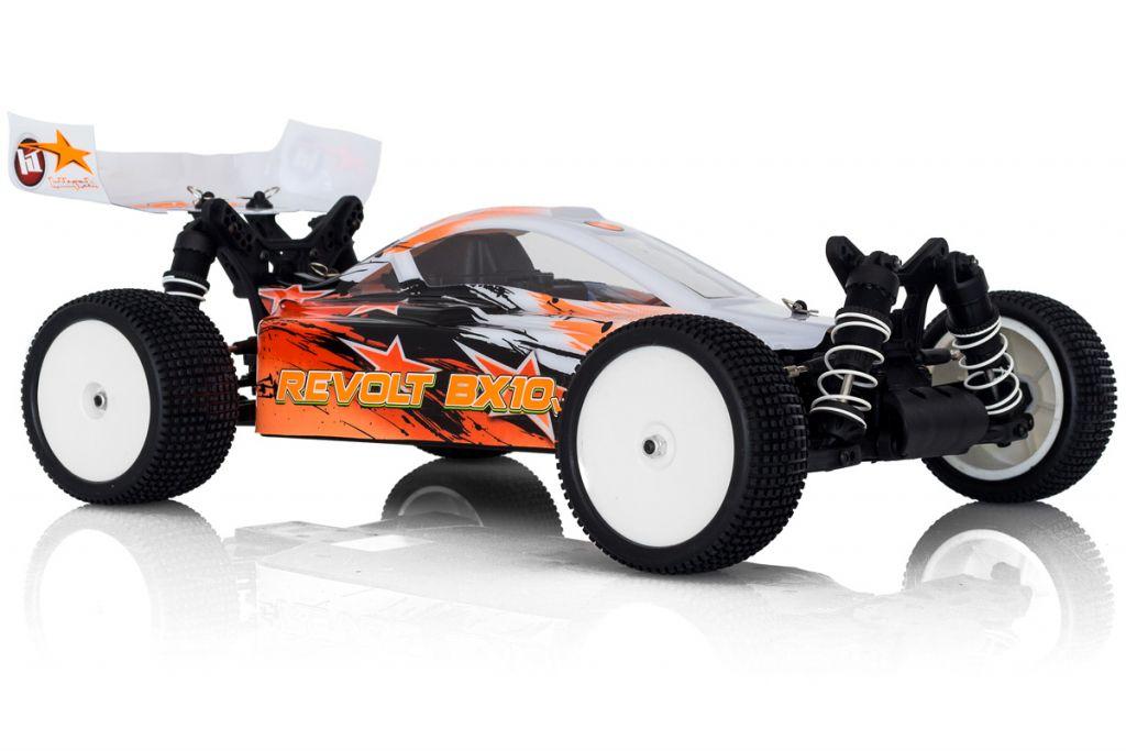 REVOLT 4.0 electrique 1 / 10RTR carro. ORANGE + accus + chargeur
