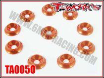 Rondelles cuvettes M3 oranges T-Work\'s pour vis Fraisées (10)