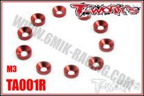 Rondelles cuvettes M3 Rouge T-Work\'s (10)