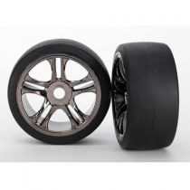 ROUES ARRIERE MONTEES COLLEES SUR JANTES CHROMEES (2) XO-1