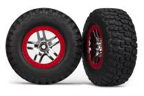 ROUES MONTEES COLLEES BF GOODRICH POUR 4X4 AV/ARR-4X2 ARRIERE (2) - TRX6873A - TRAXXAS