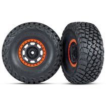 ROUES MONTEES COLLEES DESERT RACER ORANGE (2) - TRAXXAS 8472