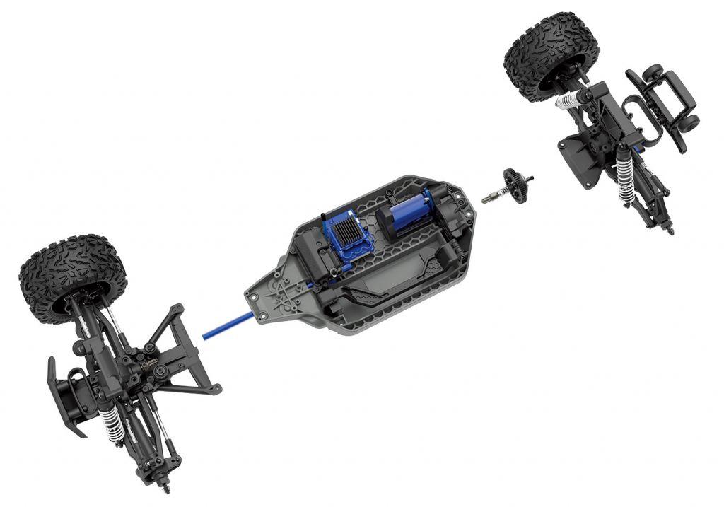 RUSTLER- 4x4 - 1/10 VXL BRUSHLESS - TSM - SANS AQ/CH - TRAXXAS67076-4