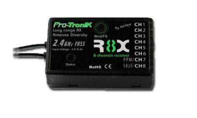 S03770218 - Récepteur FHSS R8X 8 voies Pro-Tronik