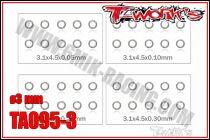 Set de Rondelles M3 T-Work\'s (10x4 tailles)