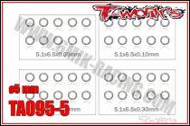 Set de Rondelles M5 T-Work\'s (10x4 tailles)