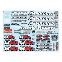 Stickers B6.1 - AS91829 - Pièce détachée Team Associated - 91829