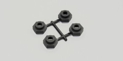 TR403 KYOSHO - Adaptateur de roue DMT VE 17mm pour hexagone 12mm (4) - Pièces détachées RC