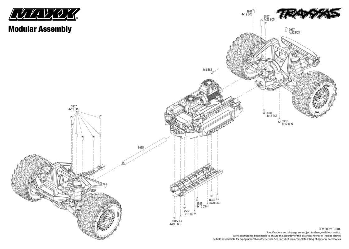 Traxxas MAXX 4s | 4wd Brushless Radio TQi & TSM iD RTR | 89076-4
