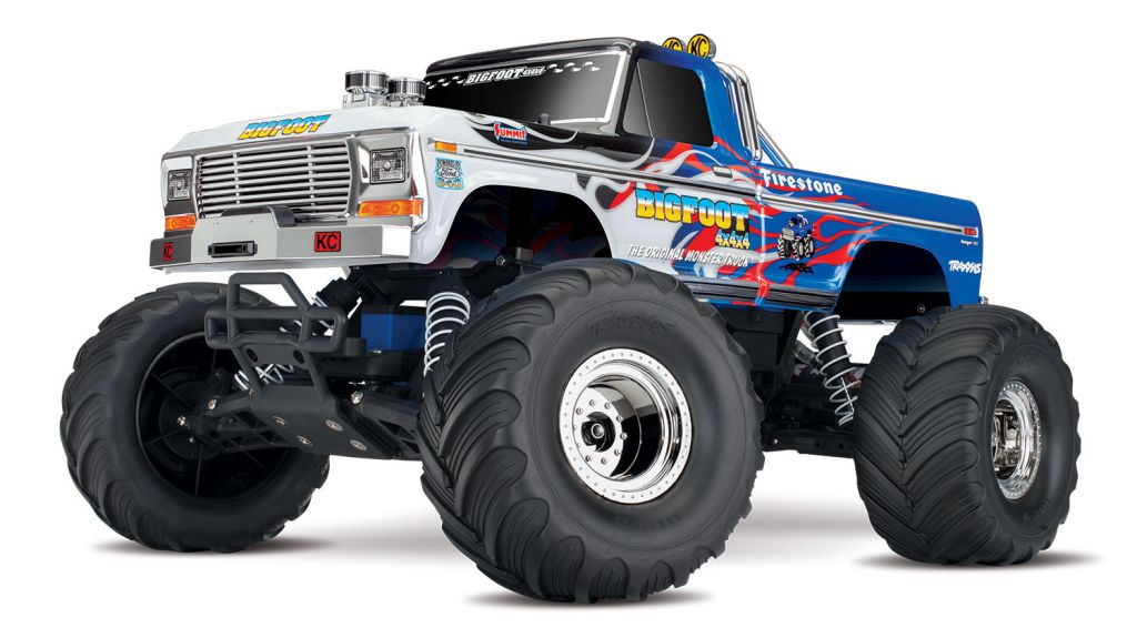 TRX36034-1-FLME - BIGFOOT FLAME- 4x2 - 1/10 BRUSHED TQ 2.4GHZ - iD - TRAXXAS
