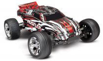 TRX37054-4-RED - RUSTLER - 4x2 - ROUGE - 1/10 BRUSHED TQ 2.4GHZ - SANS AQ/CHG - TRAXXAS