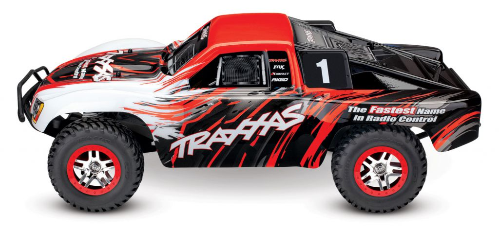 TRX68086-4-RED - TRAXXAS SLASH - 4x4 - ROUGE - 1/10 BRUSHLESS - TSM - iD- SANS ACCUS/CHARGEUR