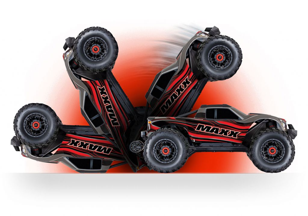 TRX89076-4-RED - MAXX - 4x4 - ROUGE - 1/10 BRUSHLESS - TSM - SANS AQ/CHG - TRAXXAS