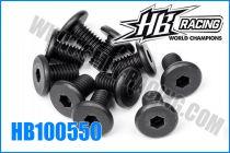 Vis fixation moteur / châssis M5x8 pour HB E817 (10)