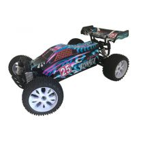 VOITURE RUNNER BLEUE  1/10 4x4 BRUSHED RTR