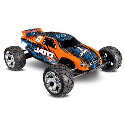 VOITURE THERMIQUE TRAXXAS JATO ORANGE 3.3 TQI TSM 2WD - TRAXXAS 55077-3