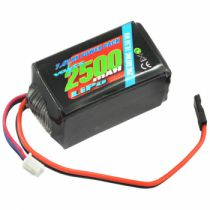 VZ0271 - Voltz - Accu de réception 2500mah LiPo 2S 7.4V HUMP