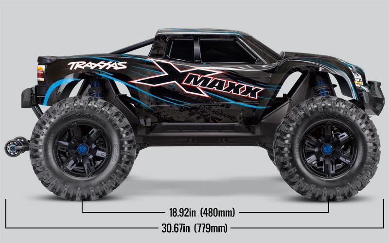 X-MAXX 4X4 VERT - 8S - BRUSHLESS - WIRELESS - ID- TSM - TRX77086-4-GRN - TRAXXAS