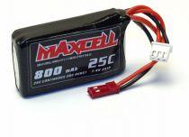 Z03L252S800 Maxcell - Accu LiPo 25C 7,4V 800 mAh Prise BEC