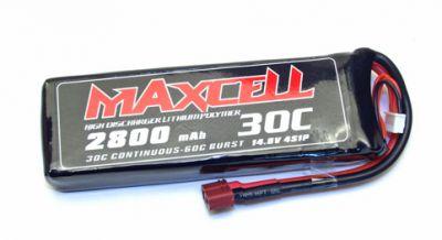Z03L304S2800 Maxcell - Accu Lipo 4S 14,8V 2800mah 30C prise dean